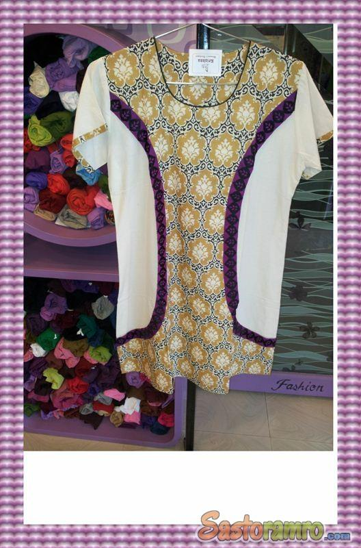 Cotton kurti with attracting effects