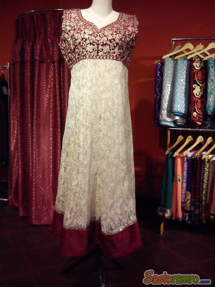 Custom designed embroidered kurti 50% off