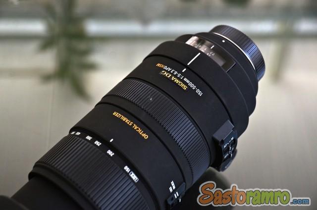 Sigma DG 150-500 Zoom Nikon mount