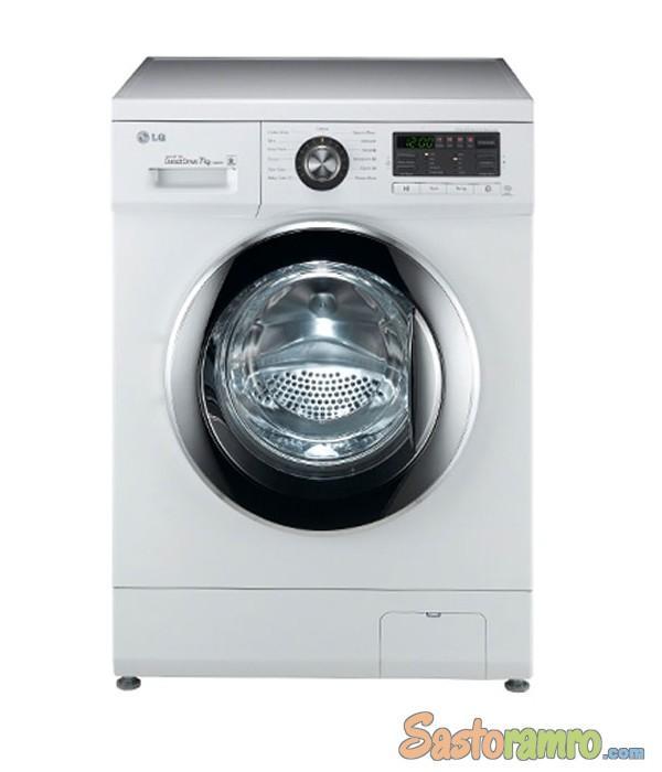 LG front loading washing machine model:-WD-1480TDT