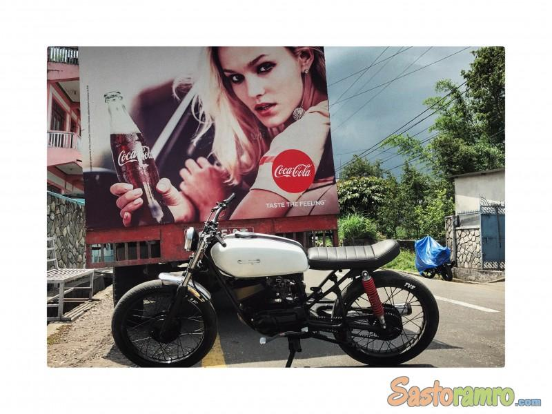 Yamaha 135 Modified in to cafe racer/ scrambler