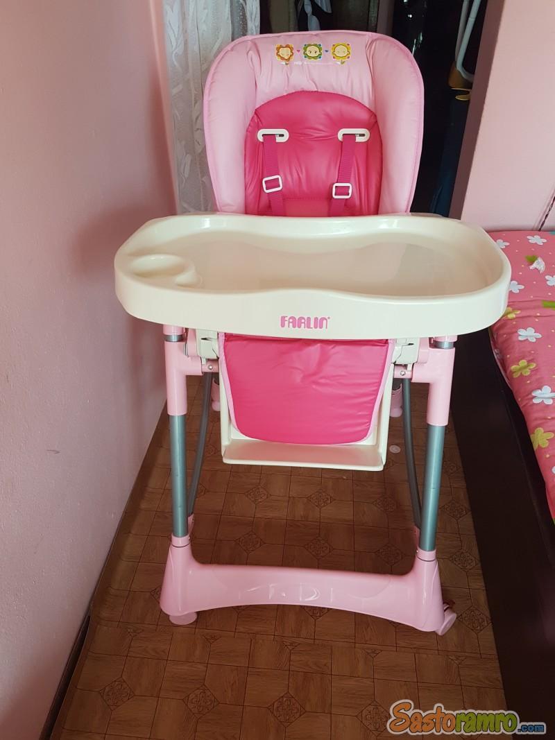 New hand high feeding chair farlin