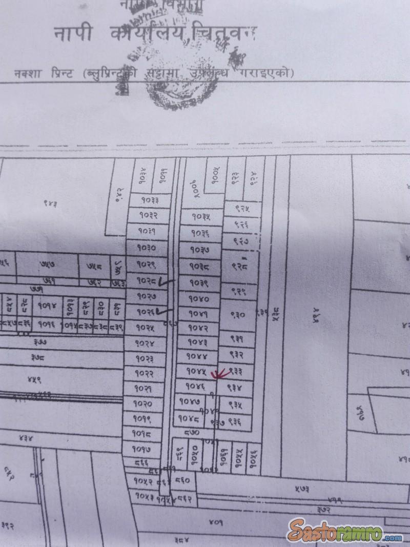 6.75 ana land at Gitanagar Bharatpur