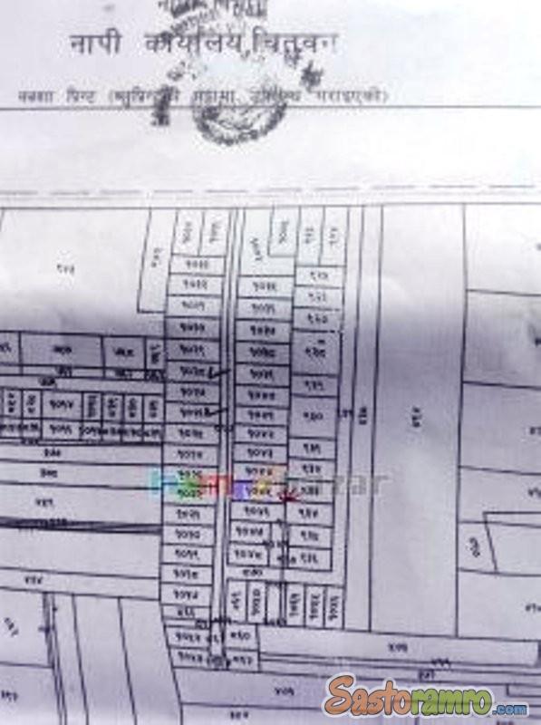 6.25 ana land at Gitanagar Bharatpur
