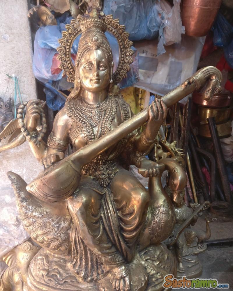 Brass Saraswati 24 inch