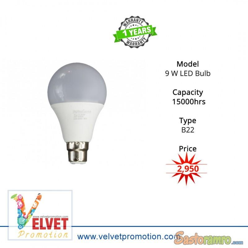 Rajdhani 9 W LED Bulb (10 units per pack)