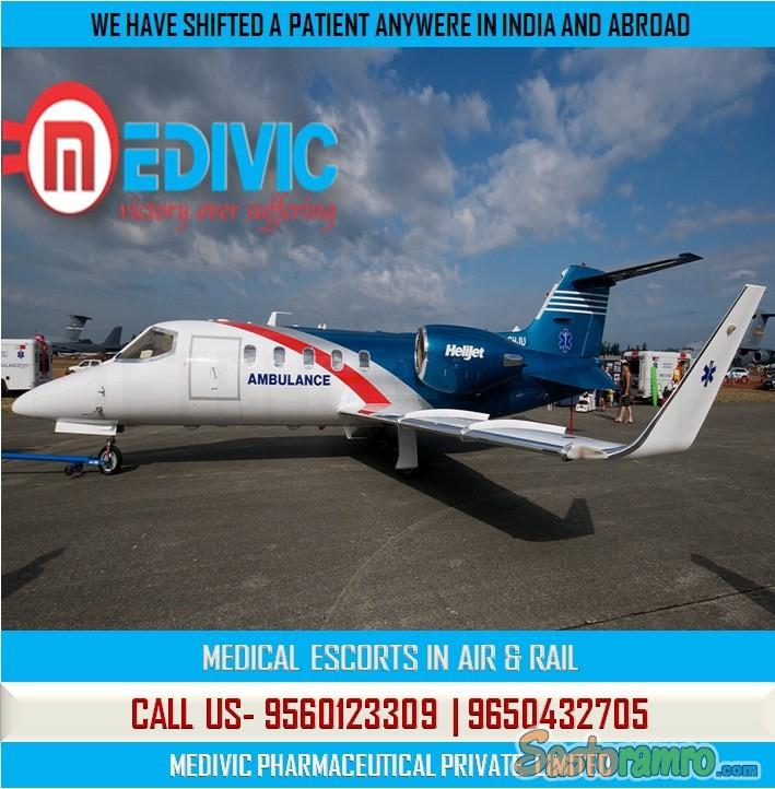 Take Stress-Free Life Care Air Ambulance Service in Delhi by Medivic