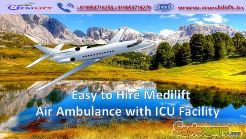 Very Low Fare Air Ambulance Service in Delhi by Medilift