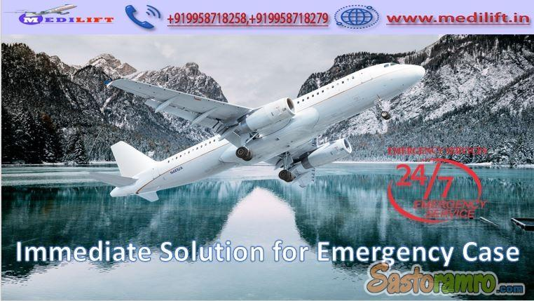 Hire Medical Support Air Ambulance Service in Chennai by Medilift