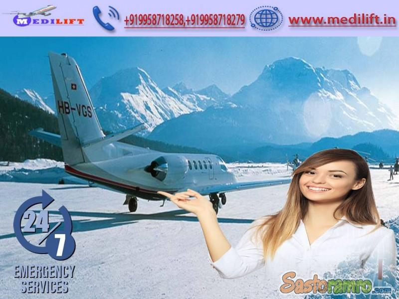 Utilize Full ICU Facility Air Ambulance Service in Silchar by Medilift