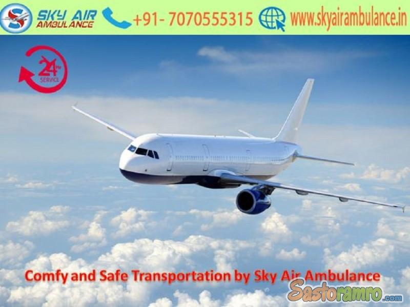 Avail ICU Patient Shifting from Dibrugarh by Sky Air Ambulance