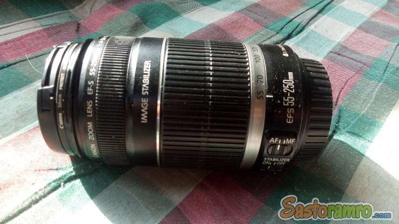 Canon 55-250 lense on sale