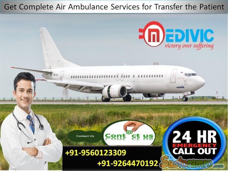 Take Vary Popular Charter Air Ambulance in Varanasi by Medivic