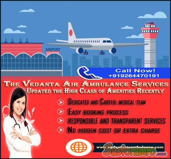 Perfect ICU Medical Facilities by Vedanta Air Ambulance in Patna