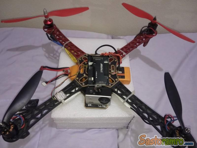Drone with 3D fixed GPS