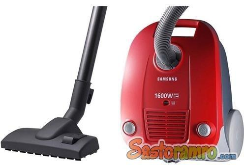 Samsung 1600 Watt Canister Vacuum Cleaner - Red, SC4130