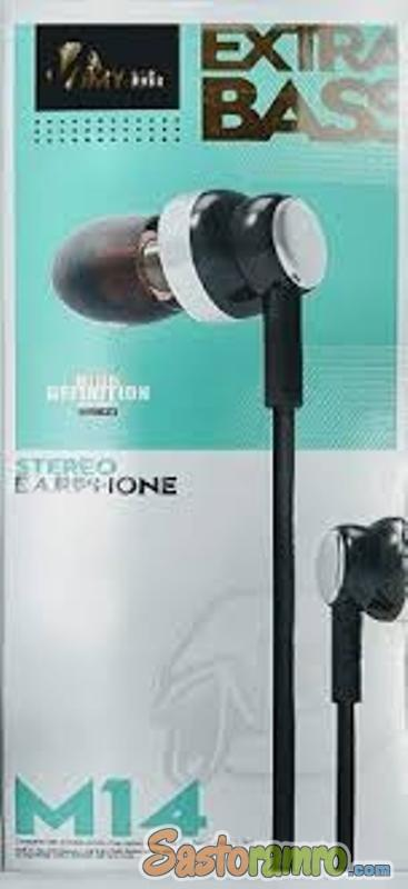 M14 wired Extra Bass Earphone