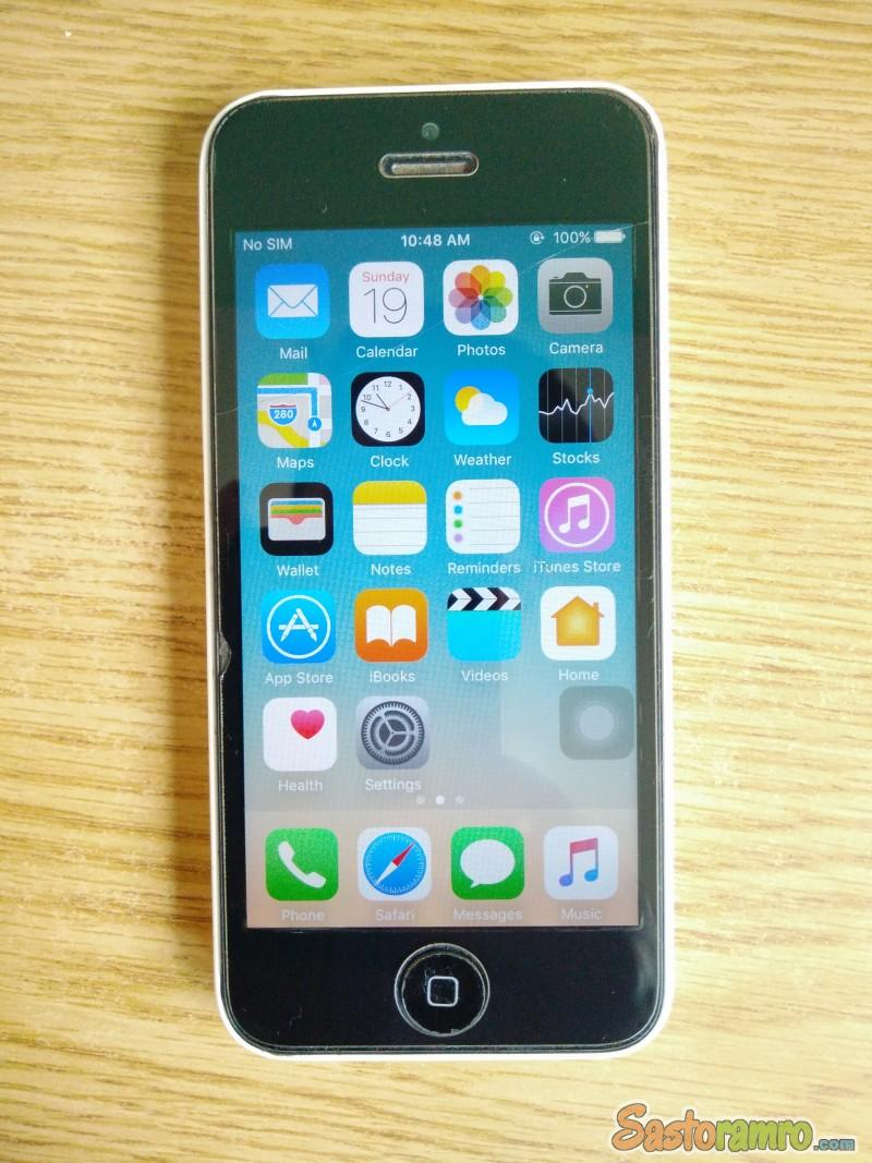 iPhone 5c - 16gb - With Back Cover And 3A Charger