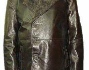 Black Cow Nappa Leather Jacket with Fur