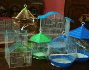 Variety of bird cages