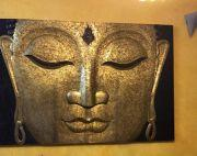 BRASS(pittal) COATED BUDDHA FACE (6 feet X 4 feet)