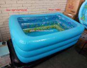 Family With Kids Swimming Pool