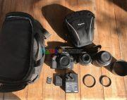 Nikon D3200 with many accessories
