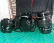 Canon EOS 750D With Two lenses and other accessories