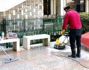 Marble and chips cleaning-polishing service