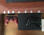 PS4 WITH TWO JOYSTICKS AND FIFA