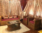 Living room cane furniture set