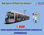 Take Sky Train Ambulance Service in Guwahati with Advanced ICU Facility