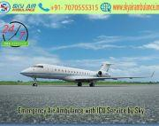 Utilize Sky Air Ambulance Service in Jamshedpur with Monitoring Tools