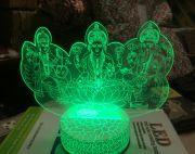 3D colour changing ganesh laxmi and saraswati light