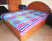 Solid wood King size bed detachable