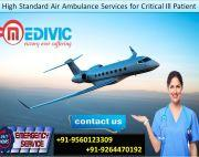 Avail High-Developed Emergency Air Ambulance in Guwahati by Medivic