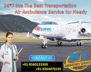Instant Hire Full Advanced ICU Air Ambulance in Delhi by Medivic