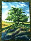 Landscape painting greenary
