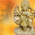 24 inch (2 feet) Fine Carved Indian Bhagwati/Durga | २४ इन्च राम्रो बुट्टे
