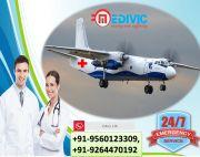 Use Supercilious ICU Air Ambulance Services in Jabalpur by Medivic